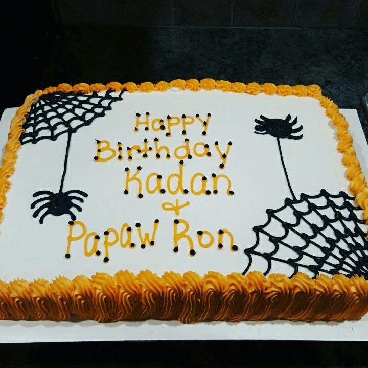 Halloween Sheet Cakes  Halloween cake Cakes Pinterest