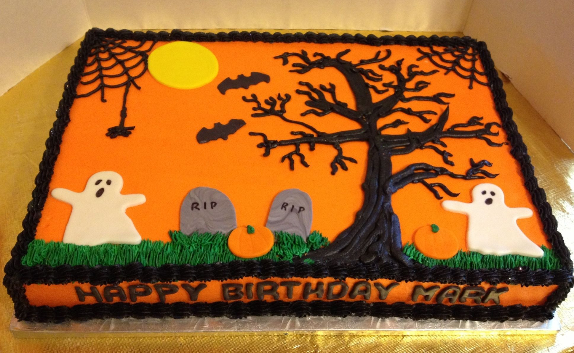 Halloween Sheet Cakes  Halloween Birthday Sheet Cake