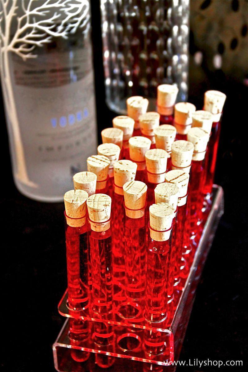 "Halloween Shot Drinks  Fun ""tubes of blood"" vodka shots for Halloween Just add"