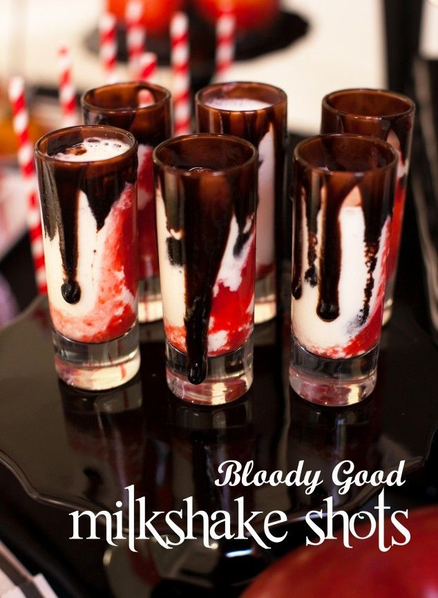 Halloween Shots And Drinks  Twilight Bloody Good Vampire Milkshake Shots