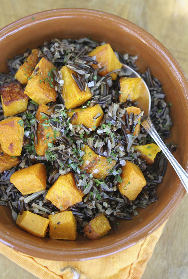 Halloween Side Dishes  Halloween Side Dish Butternut Squash and Black Rice