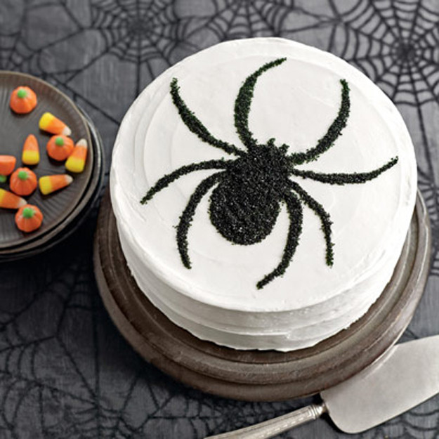 Halloween Spider Cakes  Sweet Treat Tuesday Black and White Spider Cake