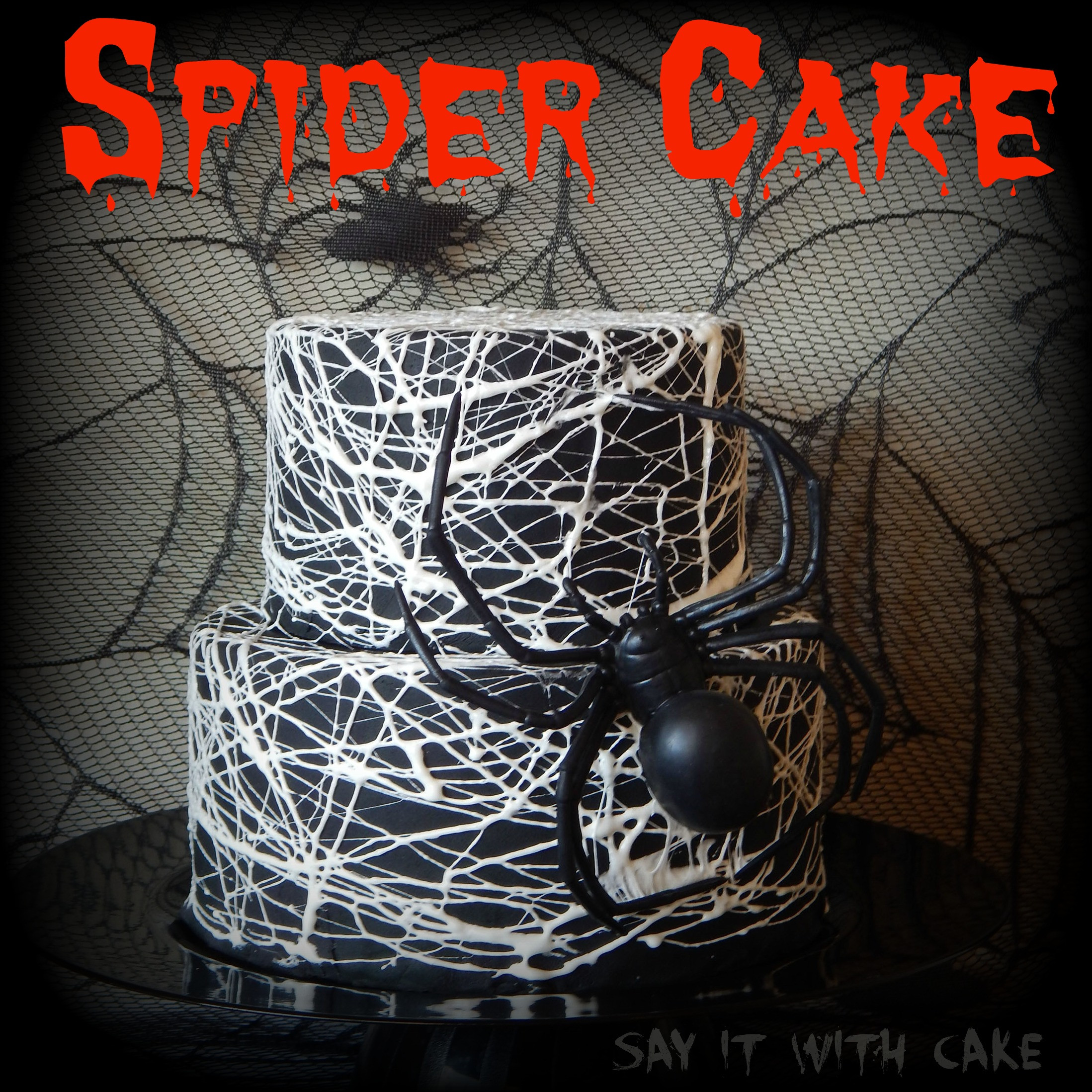 Halloween Spider Cakes  Spider Web Cake – Say it With Cake
