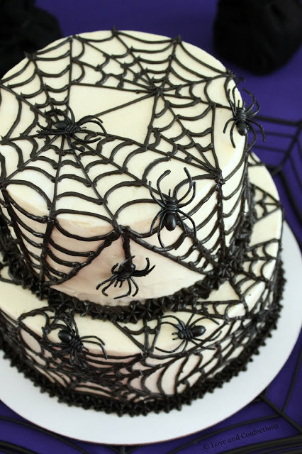 Halloween Spider Cakes  Love and Confections Black Velvet Spider Cake