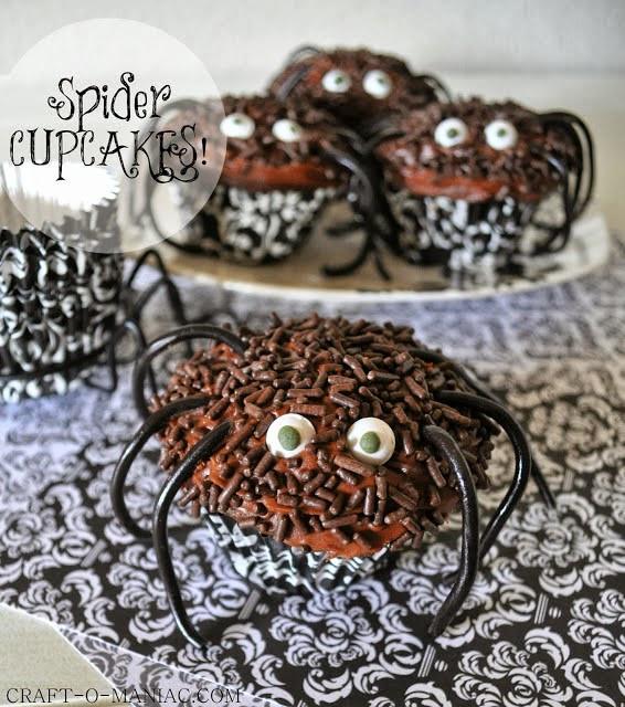 Halloween Spider Cupcakes  25 Halloween Party Treats