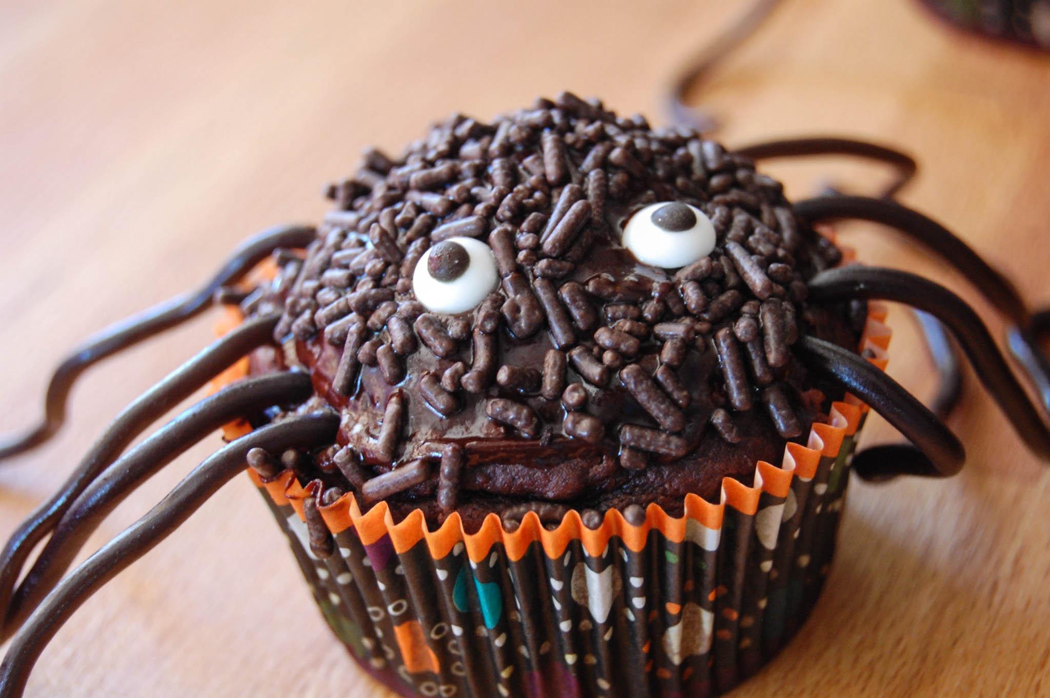 Halloween Spider Cupcakes  spider cupcakes