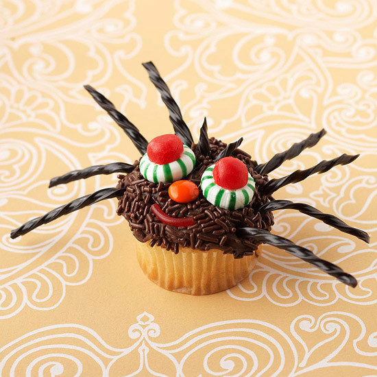 Halloween Spider Cupcakes  50 Halloween Treats