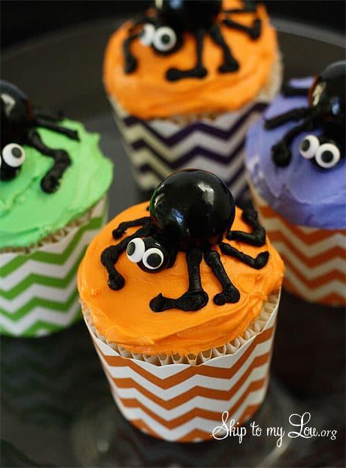 Halloween Spider Cupcakes  Spider Halloween Cupcakes
