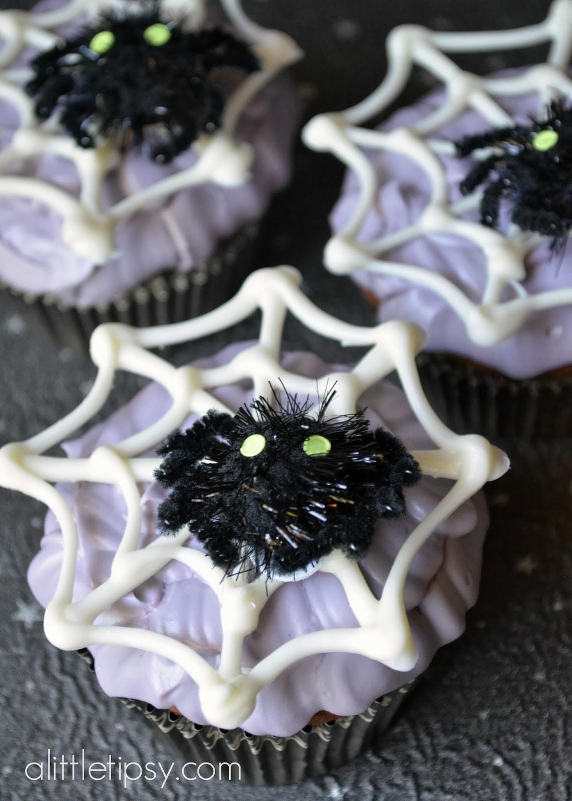 Halloween Spider Cupcakes  Halloween Spider Cupcakes 12monthsofmartha A Little Tipsy
