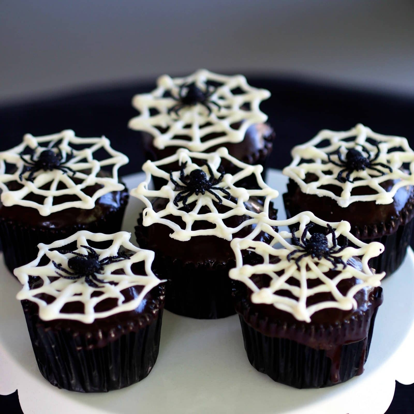 Halloween Spider Cupcakes  Spider Cupcakes Simply Sated