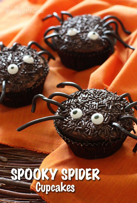 Halloween Spider Cupcakes  40 Kid Halloween Food Ideas