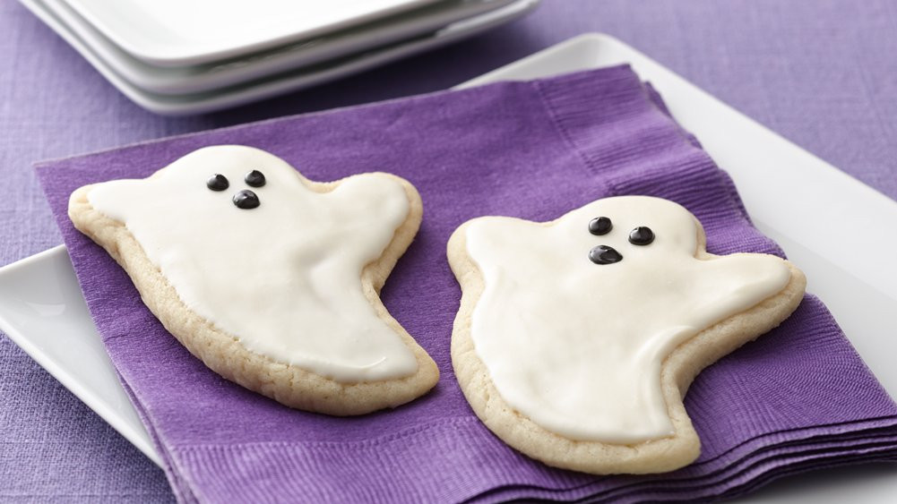 Halloween Sugar Cookies Pillsbury  Ghost Sugar Cookie Cutouts recipe from Pillsbury