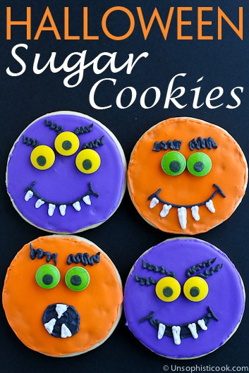 Halloween Sugar Cookies Recipes  Iced Cut Out Halloween Sugar Cookies – Unsophisticook