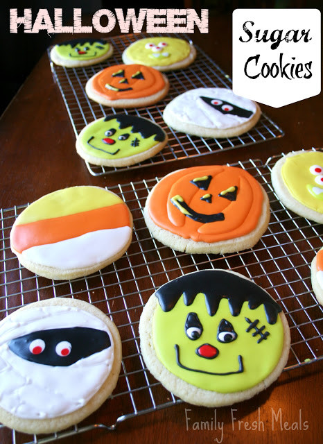 Halloween Sugar Cookies Recipes  Soft Sugar Cookie Recipe Halloween Style Family Fresh Meals