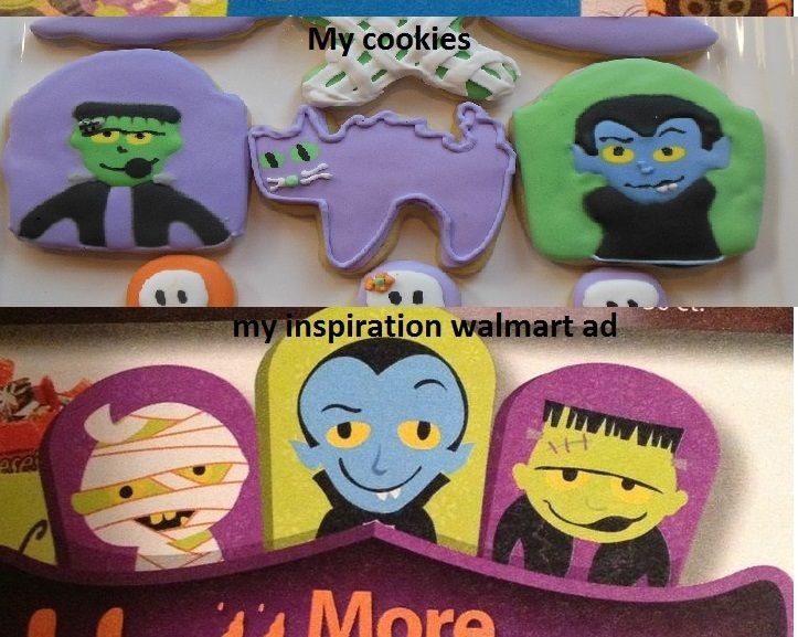 Halloween Sugar Cookies Walmart  137 best images about Clarisse s Cookies on Pinterest