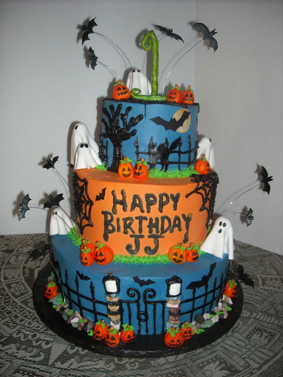 Halloween Themed Birthday Cakes  Halloween Themed 1St Birthday Cake CakeCentral