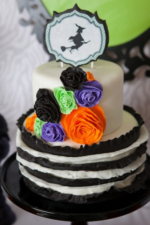 Halloween Themed Birthday Cakes  A Wickedly Sweet Witch Inspired Halloween Party
