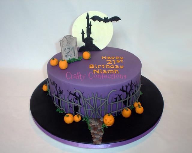 Halloween Themed Birthday Cakes  Halloween themed 21st cake
