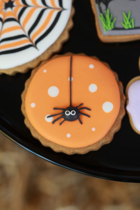 Halloween Themed Cookies  Halloween Porch Decor & Pier 1 Gift Card Giveaway
