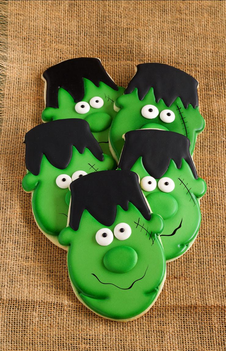 Halloween Themed Cookies  Easy Frankenstein Cookies