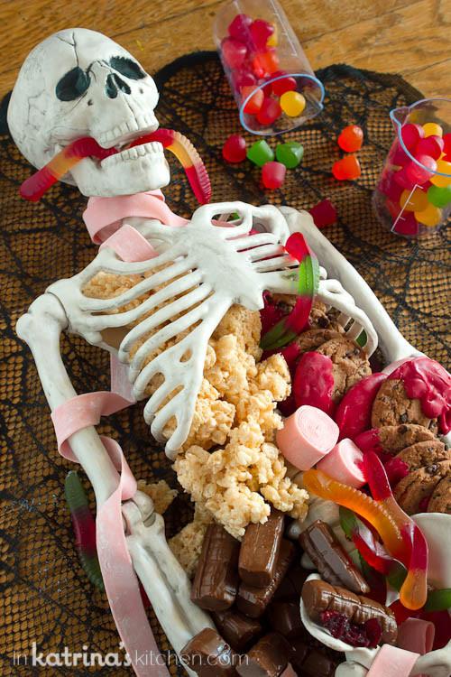 Halloween Themed Desserts  Halloween Dessert Table Skeleton