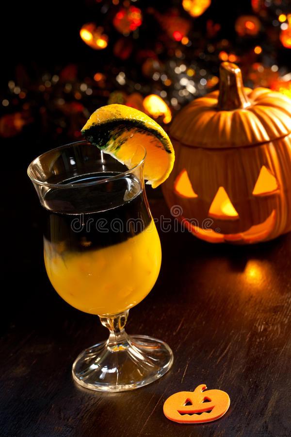 Halloween Vodka Drinks  Halloween Drinks Rotten Pumpkin Cocktail Stock