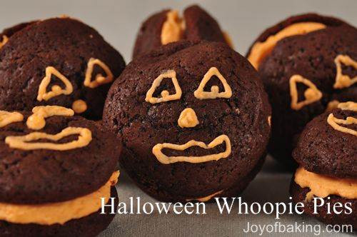 Halloween Whoopie Pies  Halloween Whoopie Pies Recipe Joyofbaking Tested