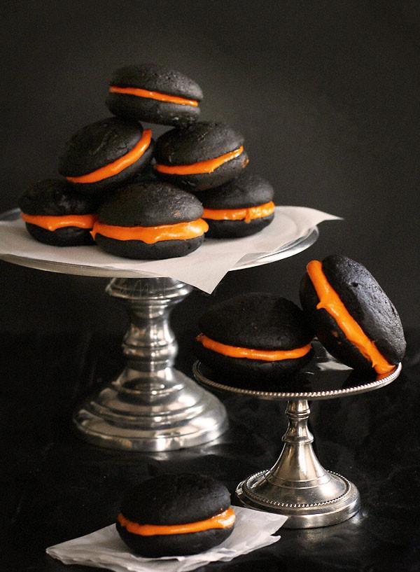 Halloween Whoopie Pies  Black Velvet Whoopie Pies i am baker