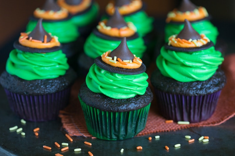 Halloween Witch Cupcakes  Witch Hat Cupcakes Tastes Better From Scratch