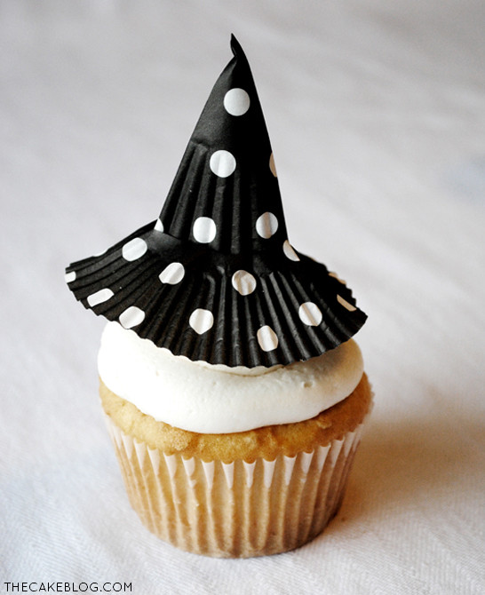 Halloween Witch Cupcakes  DIY Cupcake Liner Witch Hats