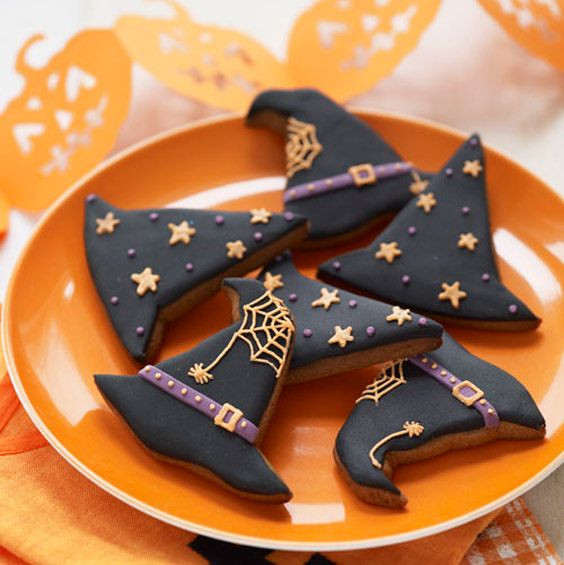 Halloween Witch Hat Cookies  25 Simple Witch Crafts and Treats Made From Pinterest
