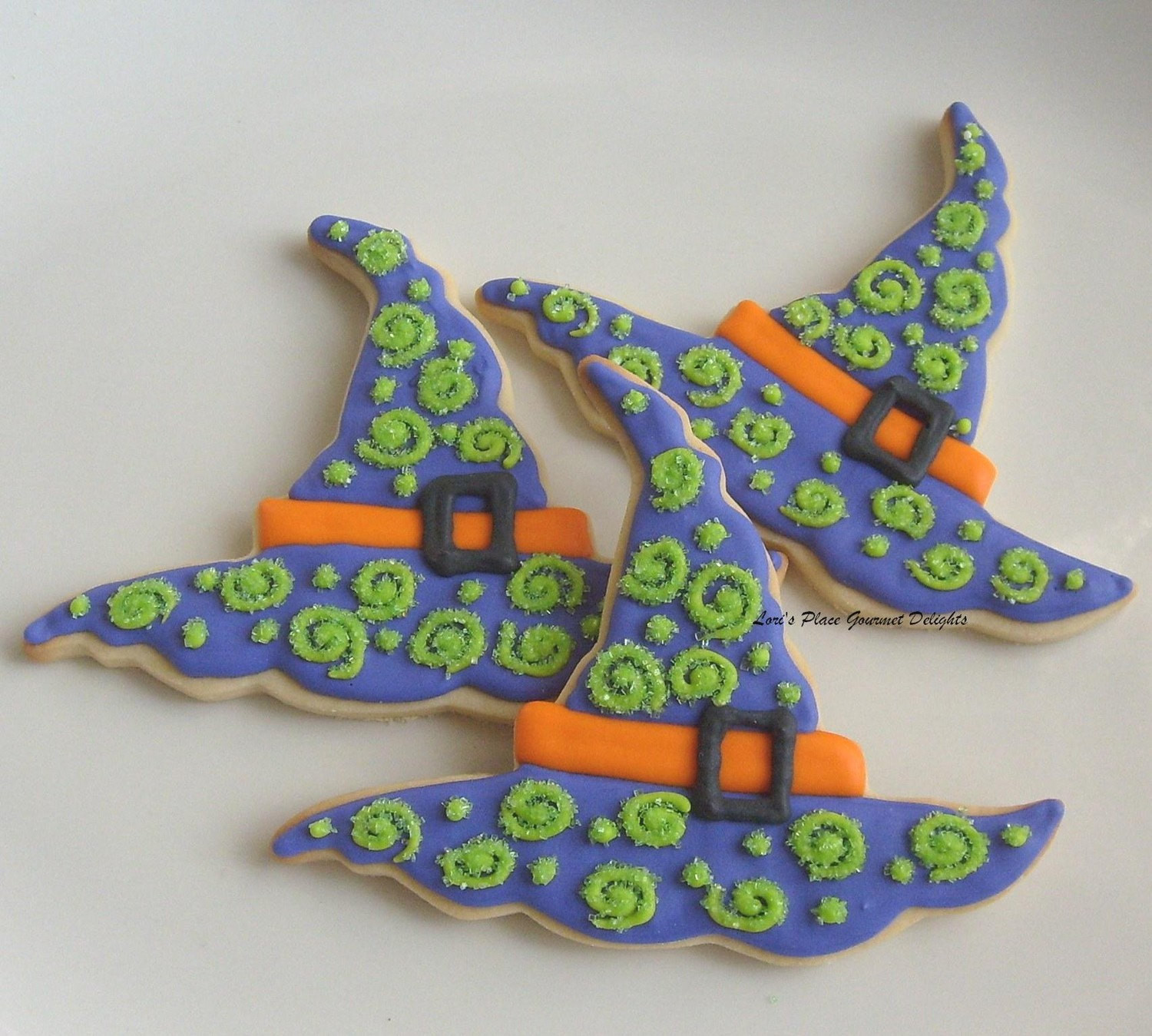 Halloween Witch Hat Cookies  Witch Hat Cookies Halloween Cookies Decorated Cookie