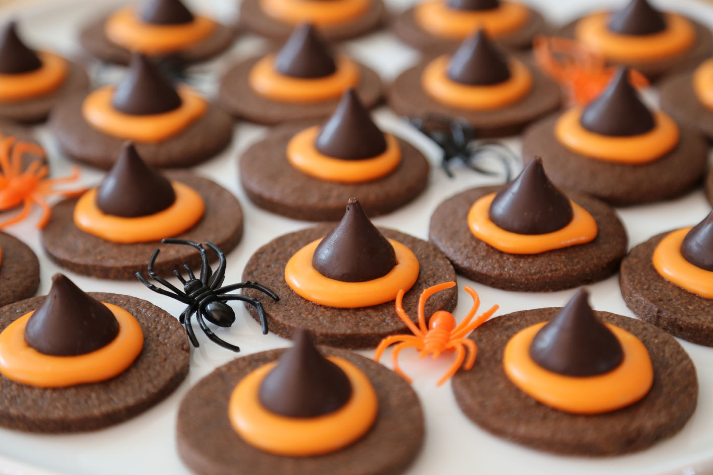 Halloween Witch Hat Cookies  Halloween Chocolate Wicked Witch Hat Cookies