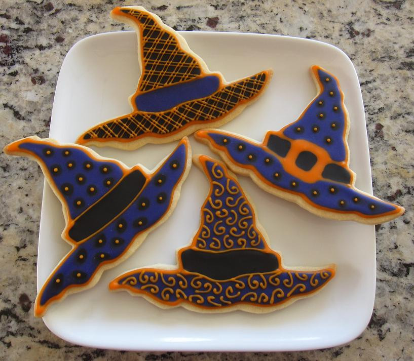 Halloween Witch Hat Cookies  Doodlebug Cookies Happy Halloween