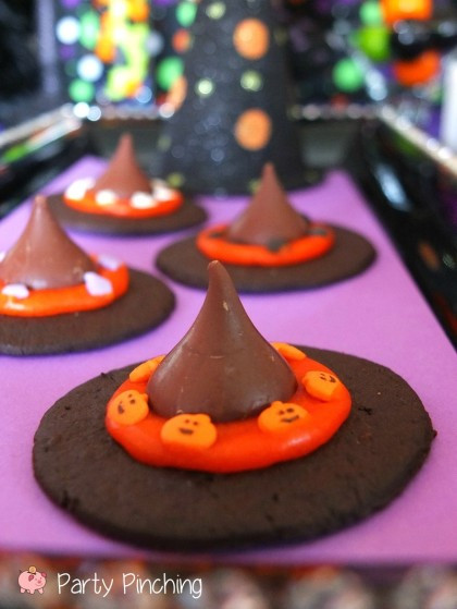 Halloween Witches Hats Cookies  Witch Hat Cookies Party Pinching