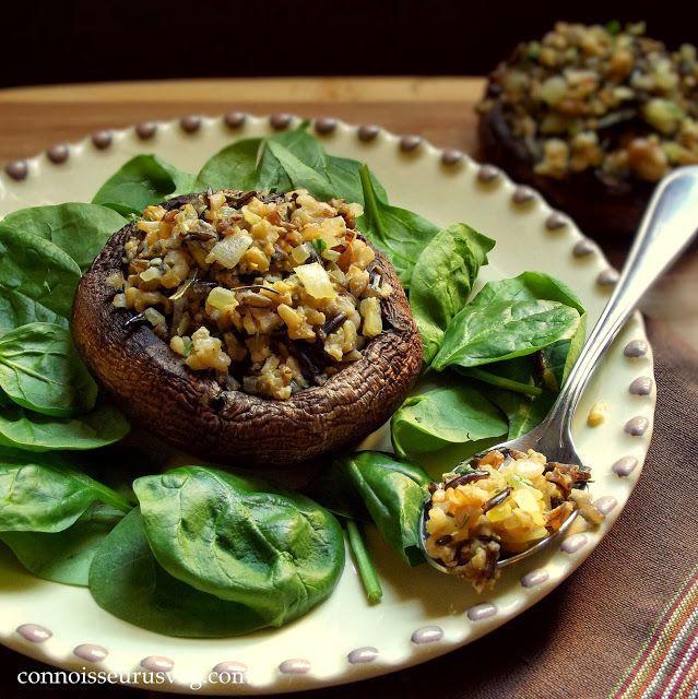Happy Thanksgiving Vegetarian  Happy Thanksgiving Walnut and Wild Rice Stuffed