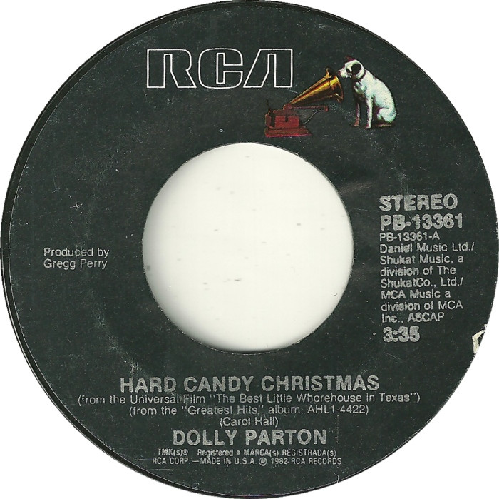 Hard Candy Christmas By Dolly Parton  45cat Dolly Parton Hard Candy Christmas Me And