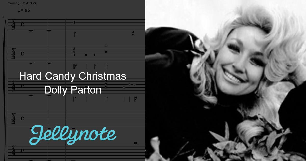 Hard Candy Christmas By Dolly Parton  Hard Candy Christmas Dolly Parton Free Sheet Music & Tabs