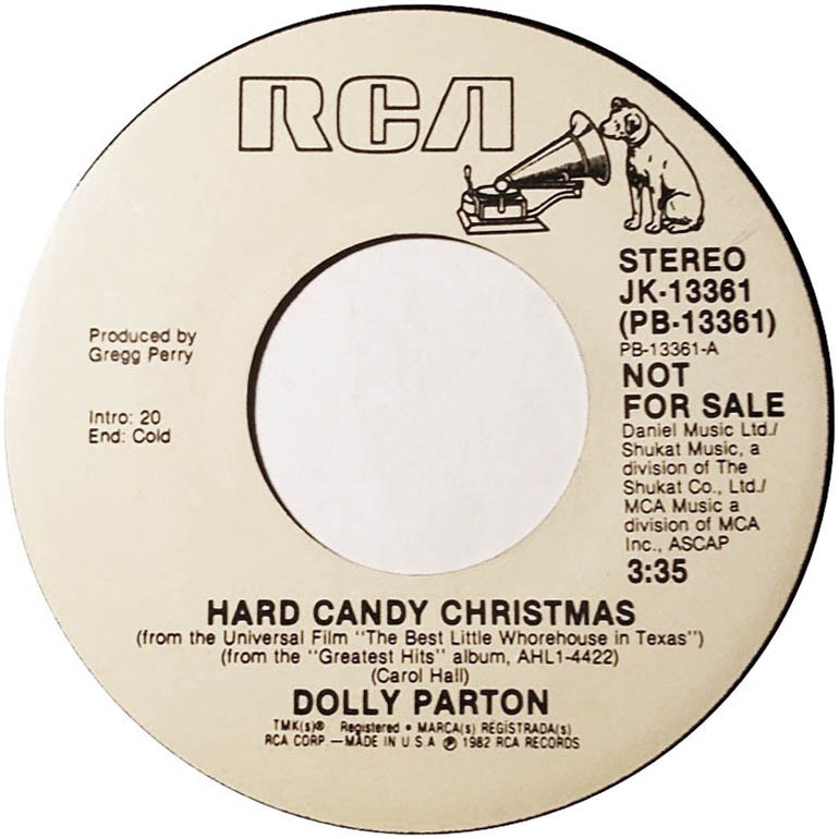 Hard Candy Christmas By Dolly Parton  45cat Dolly Parton Hard Candy Christmas Hard Candy