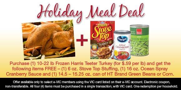 Harris Teeter Thanksgiving Dinner  Frugal Frenzy 11 8 09 11 15 09