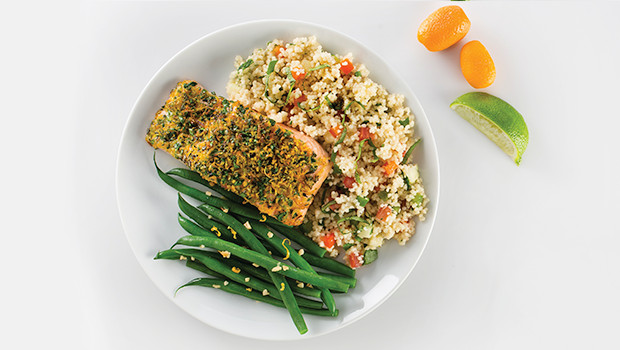 Heb Thanksgiving Dinner 2019  Citrus & Herb Crusted Salmon Mindful by Sodexo Meals