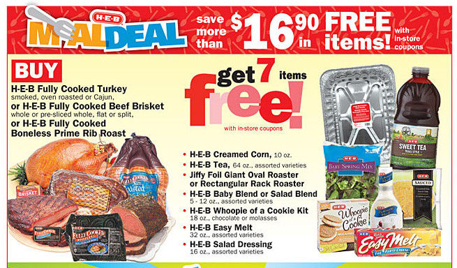 Heb Thanksgiving Dinner 2019  Melissa s Coupon Bargains H E B Turkey Meal Deal Get