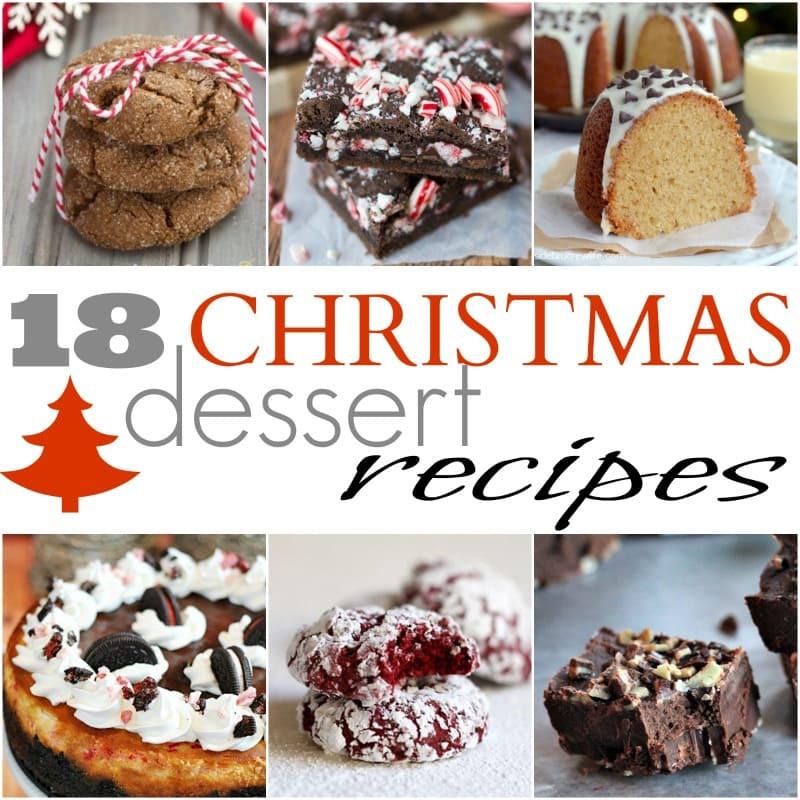Holiday Baking Ideas Christmas  18 Easy Christmas Dessert Recipes