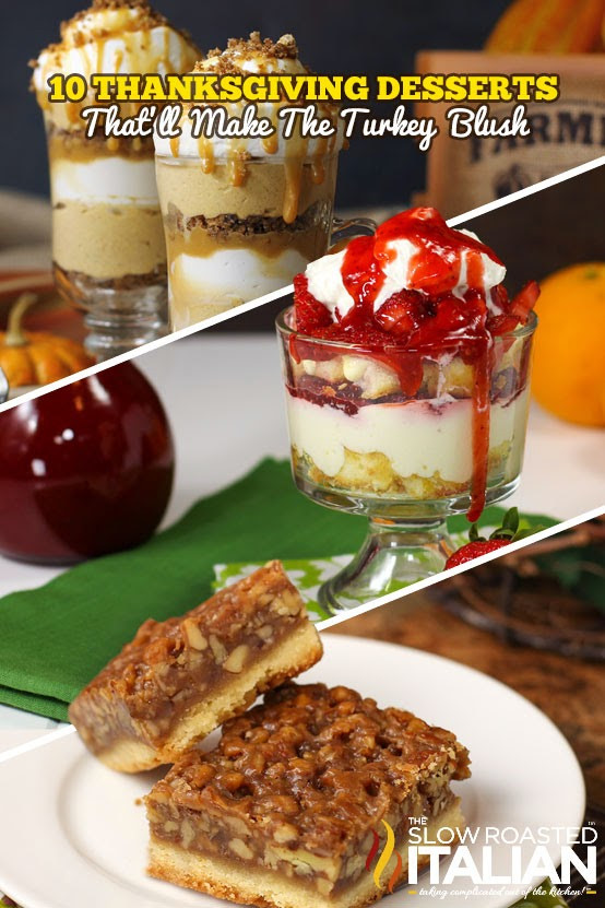 Holiday Desserts For Thanksgiving  10 Thanksgiving Desserts That ll Make The Turkey Blush