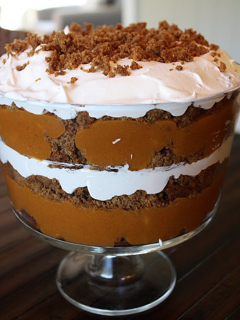 Holiday Desserts Thanksgiving  pumpkin trifle great holiday dessert
