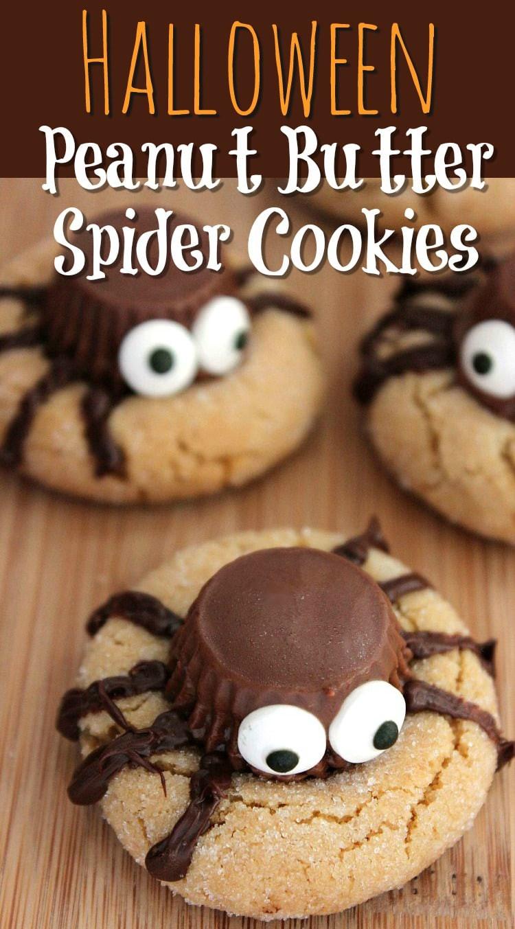 Home Made Halloween Cookies  Halloween Peanut Butter Spider Cookies Recipe