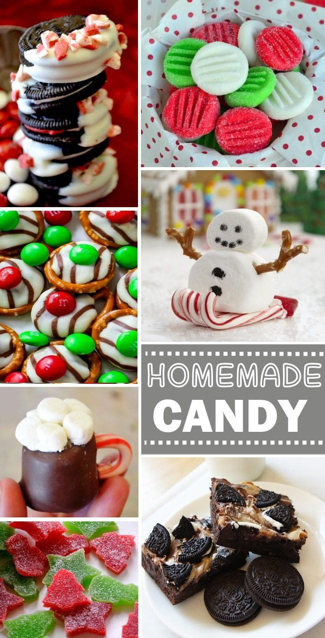 Homemade Christmas Candy Gifts  100 Homemade Candy Recipes on Pinterest