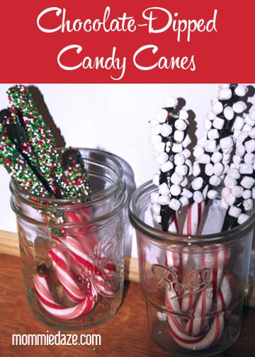 Homemade Christmas Candy Gifts  Chocolate Candy Cane Coffee Sticks Easy Homemade Christmas