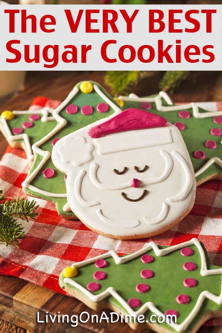 Homemade Christmas Sugar Cookies  The VERY Best Homemade Sugar Cookies Recipe Living on a