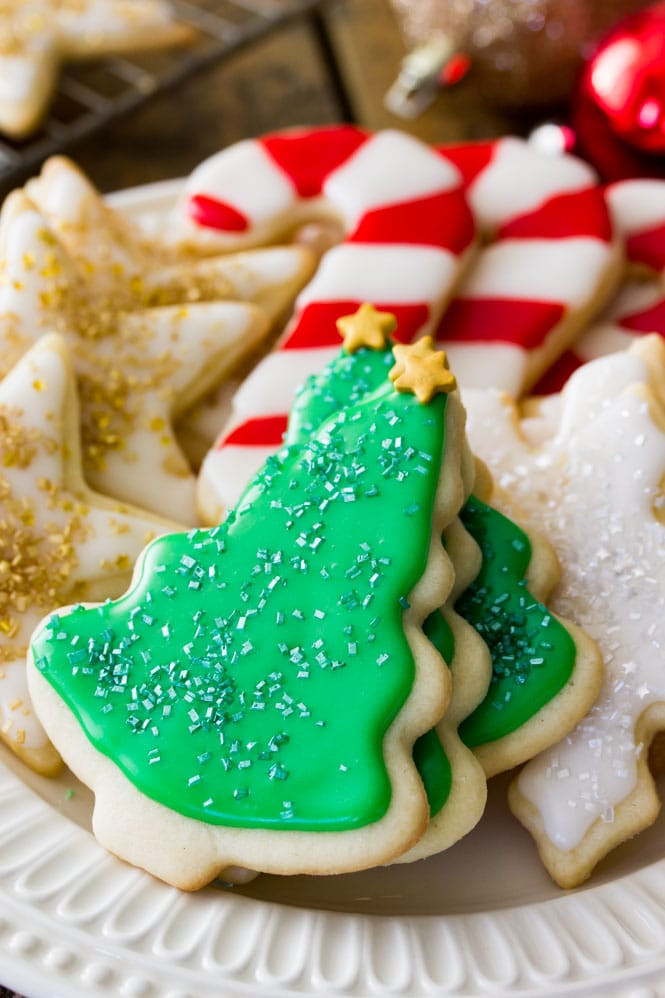 Homemade Christmas Sugar Cookies  Easy Sugar Cookie Recipe With Frosting Sugar Spun Run
